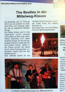 Beatles Songs in der Mittelwegklause